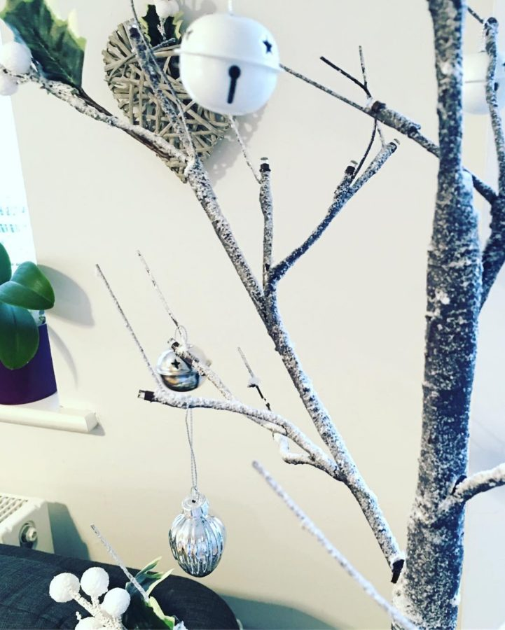 Sneak peek of my new white and silver tree inhellip