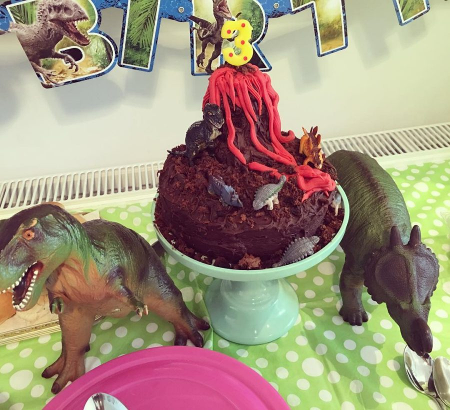 Final birthday cake for my Dino loving 3 year old