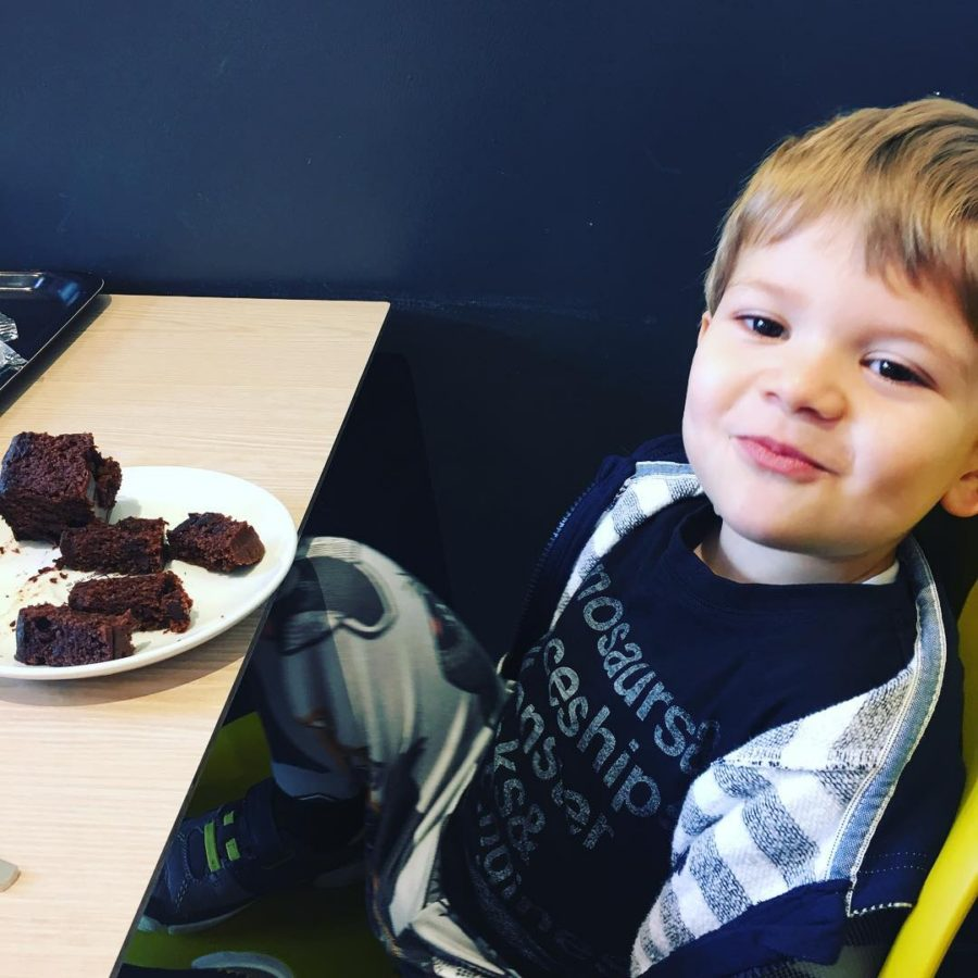 Mmm Chocolate Cake with my little boy