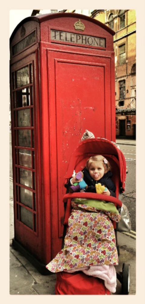 stokke xplory - telephone box red