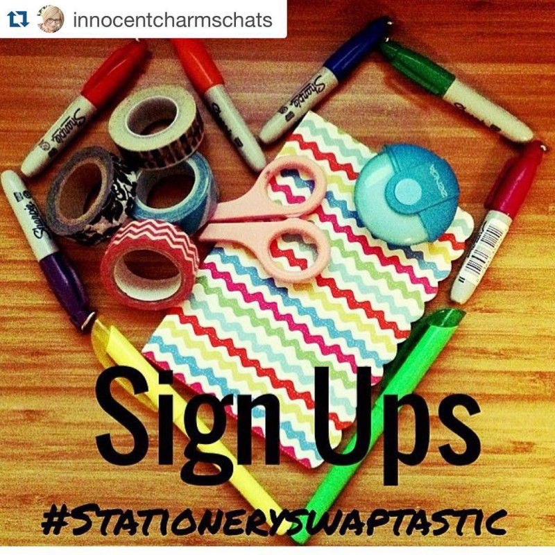 Repost innocentcharmschats with repostapp  Its time for stationeryswaptastic againhellip