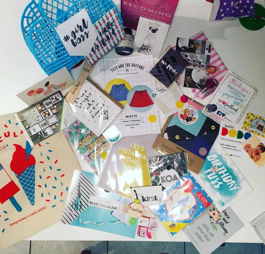 Trying to get the blogtacular goody bag in one shothellip