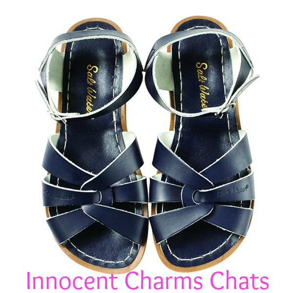 navy salt water adult sandals