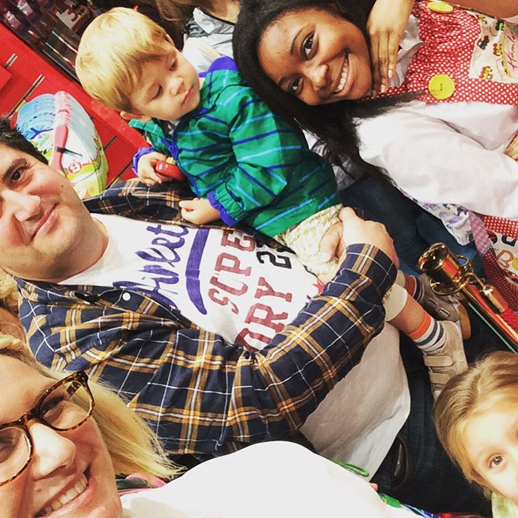 Selfie at hamleyslondon waiting for Fireman Sam