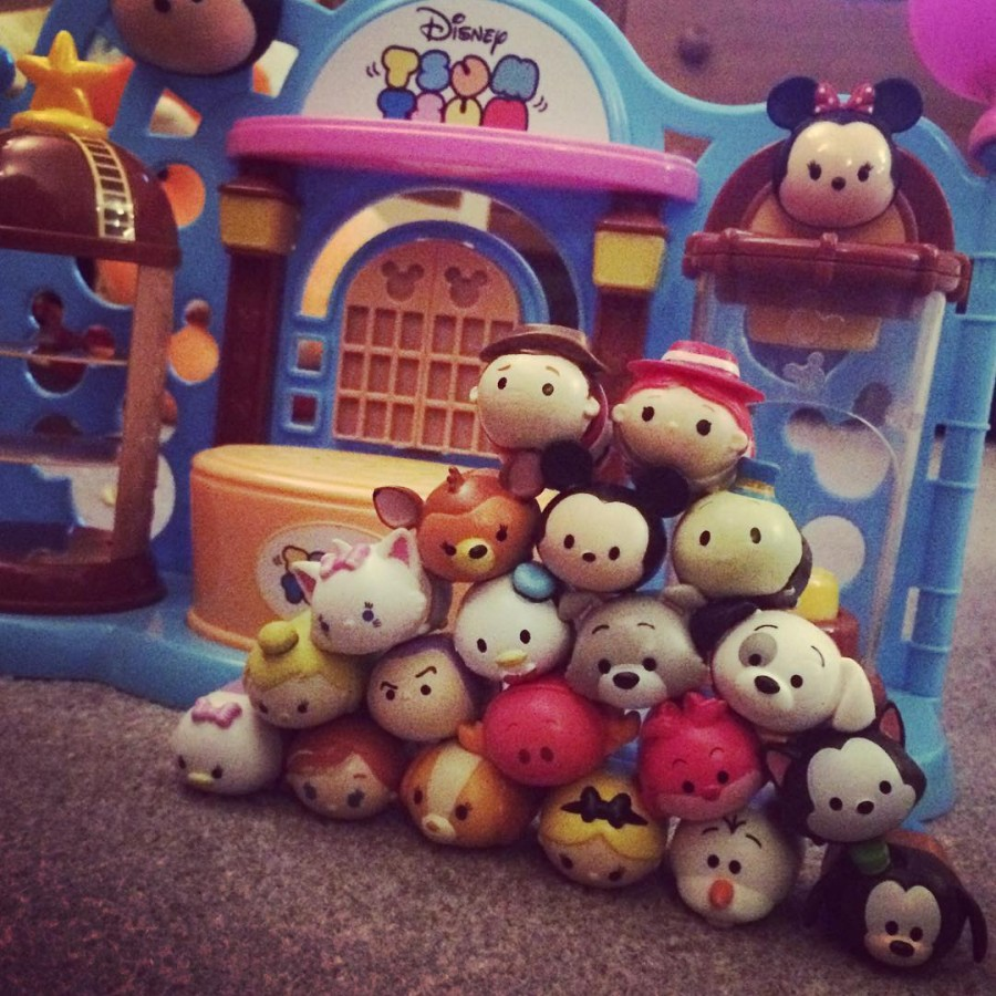 Addisons collection of TsumTsum Squishes is growing She has beenhellip