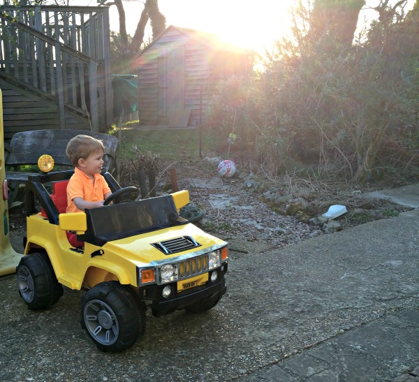 Deacon in his hummer