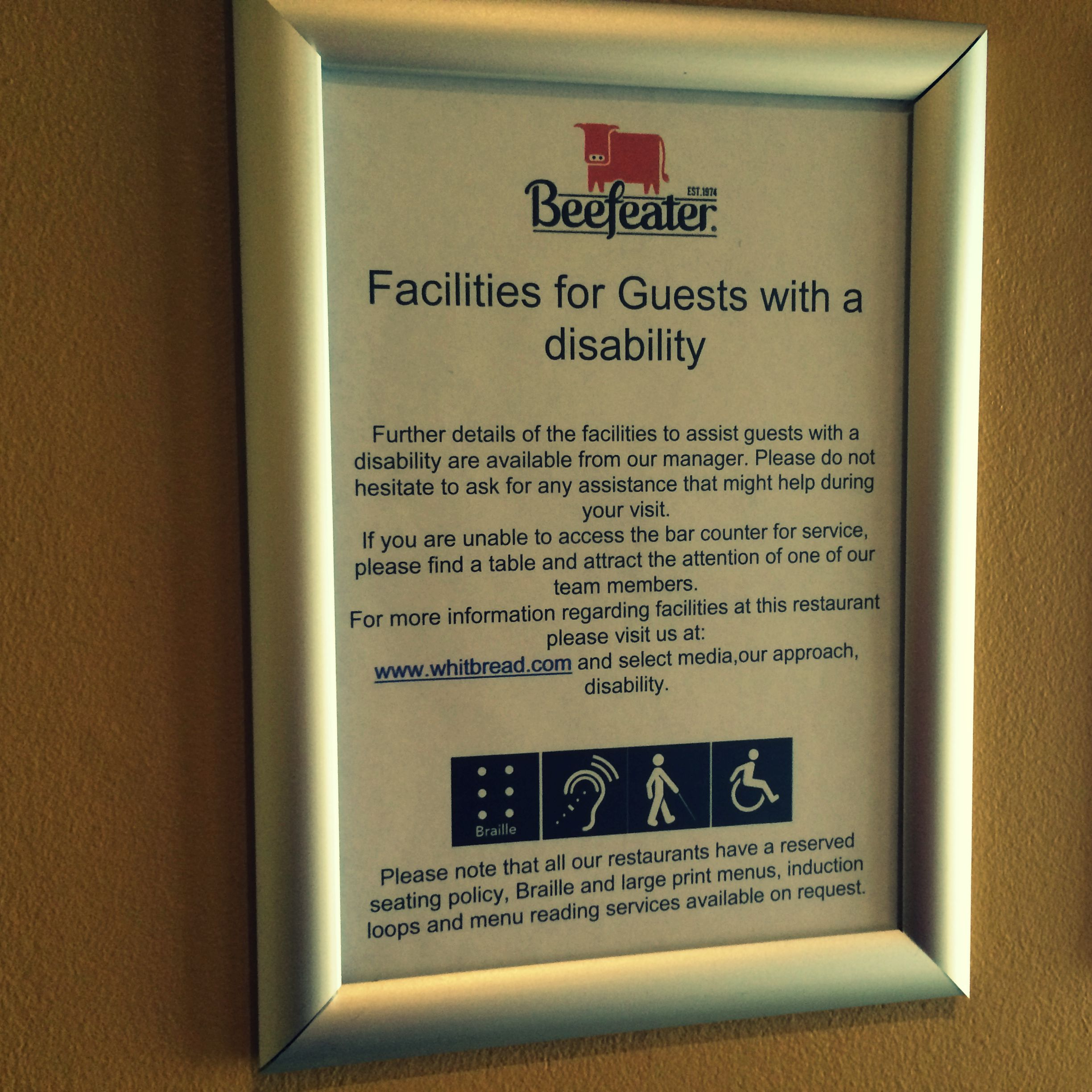 Beefeater Disability
