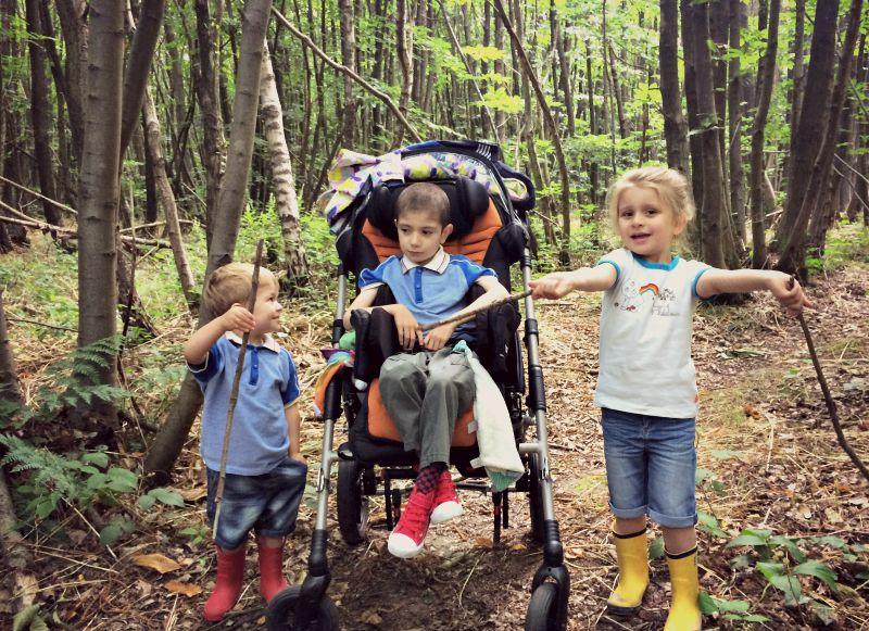 Siblings in the Woods