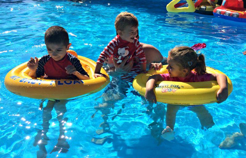 Swimming Siblings