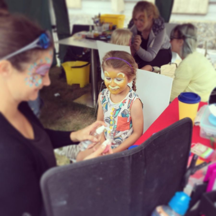 Weve arrived at boingfestival and first stop face painting ofhellip