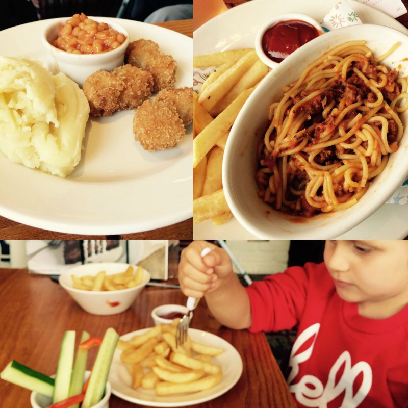 Kids meals at Brewers Fayre