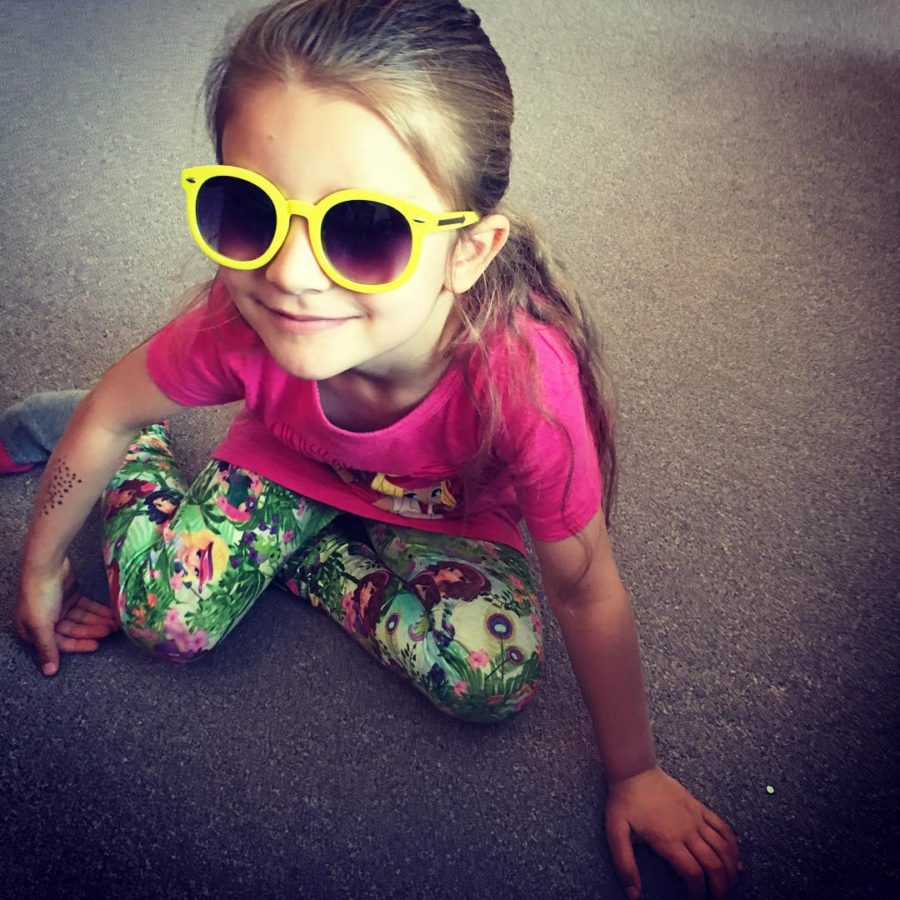 Rocking her new littlefiercekids sunnies The yellow is a perfecthellip