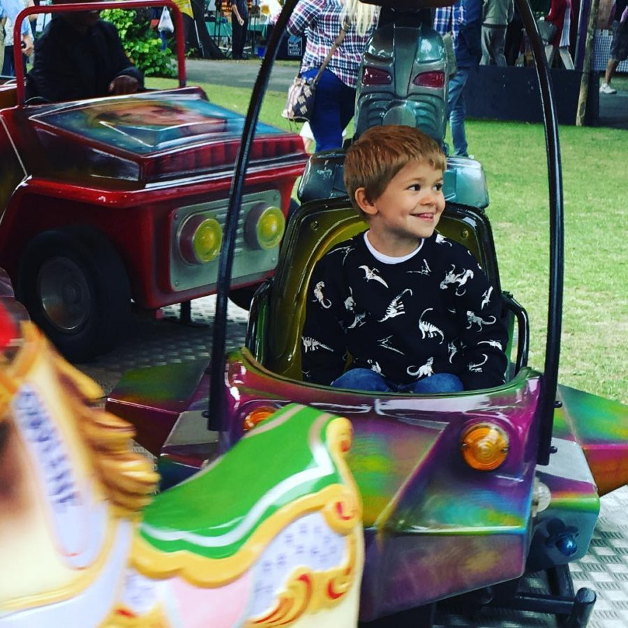Cheeky smiles on the fairground rides littleloves littlefierceones