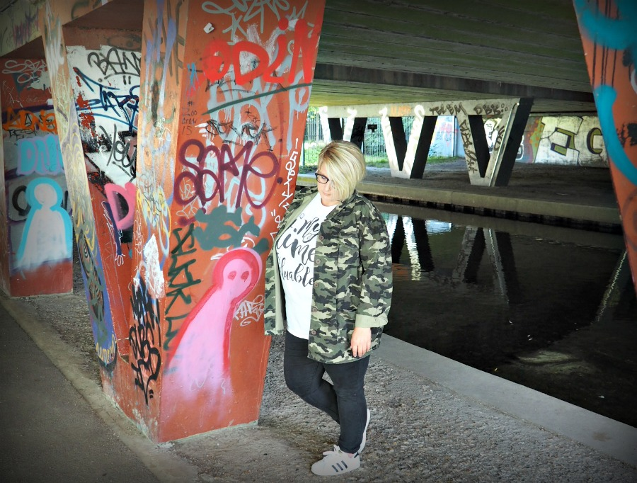 Plus Size Camo Fashion Look for casual wear from Innocent Charms Chats