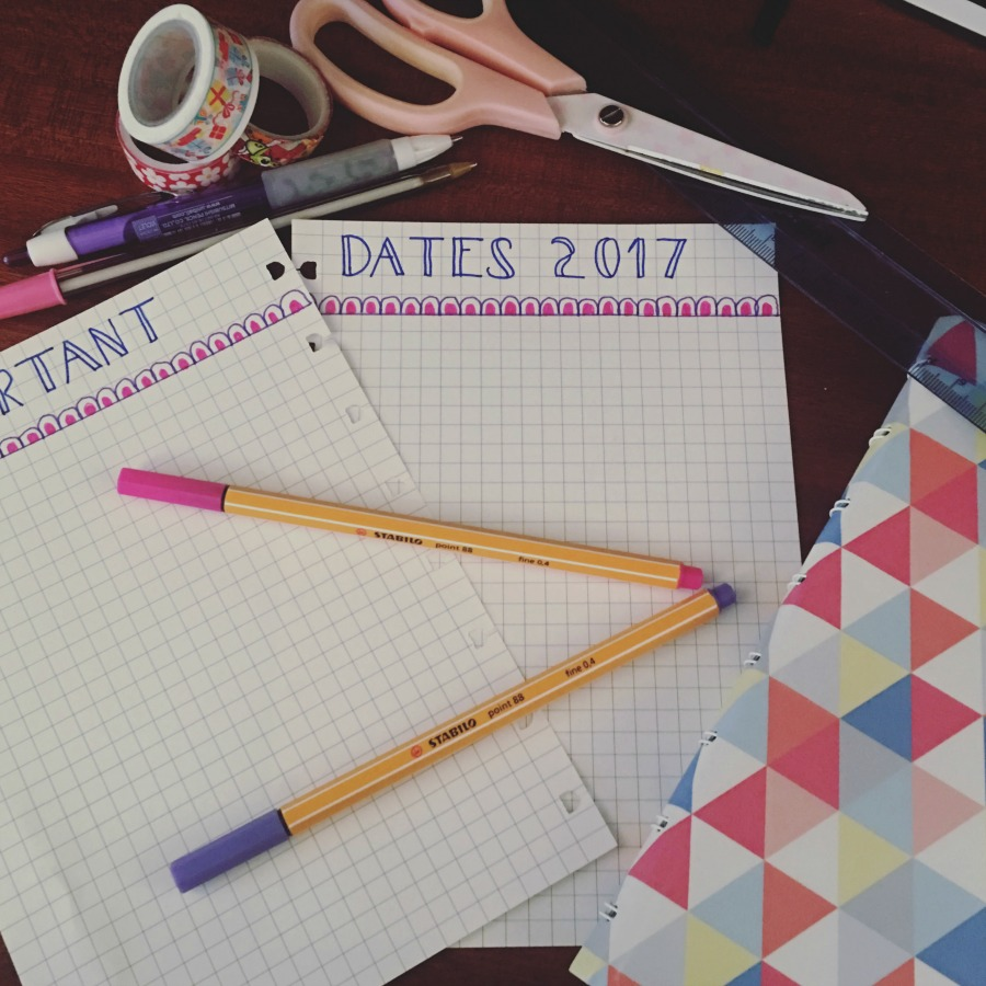 Bullet Journal for Blogging using a Filofax Refillable Notebook from Innocent Charms Chats