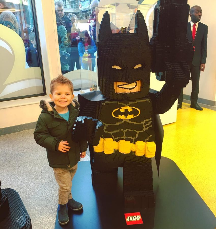 Someone was pleased to meet Lego Batman