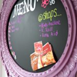 Make Your Own Magnetic Blackboard Menu Planner